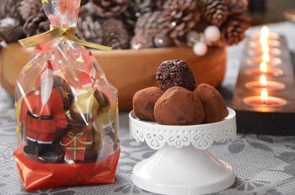 Truffes au chocolat pétillant {cadeau gourmand}