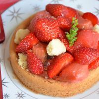 Sablé breton rhubarbe fraises