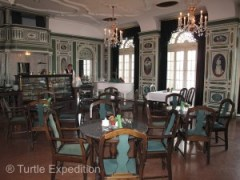 Many of the restaurants and cafés in Dresden have been beautifully restored to their original elegance.