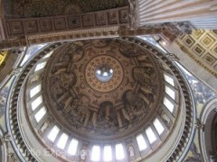 Looking straight up into the multi-leveled dome of St. Paul's Cathedral can make you dizzy.