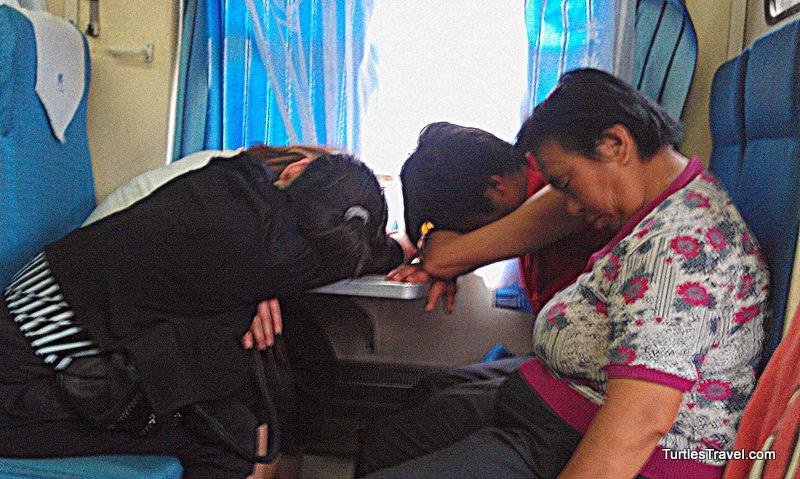 Asleep on Pingyao Train