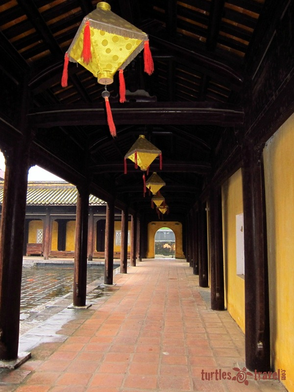 A corridor within the Royal Citadel in Hue