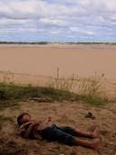 Napping on the Mekong