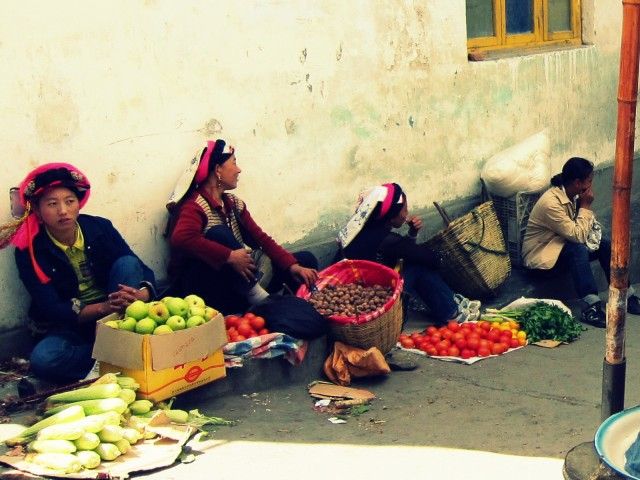 Fruit and Veggie Market, Danba