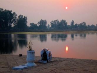 Sunset, Khajuraho