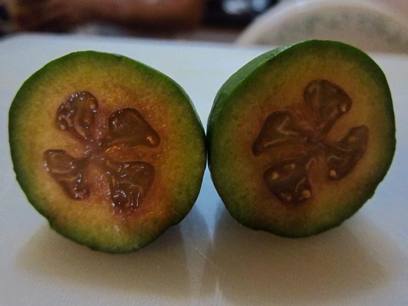 Feijoa Inside, Colombian fruit