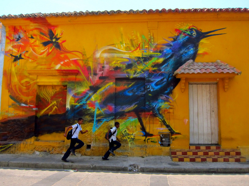 Maria Mulata, street art in Cartagena