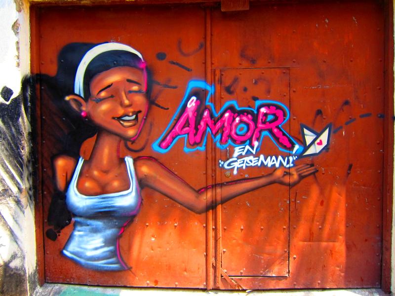 Amor in Getsemani Graffiti