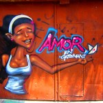 Amor in Getsemani Graffiti