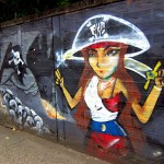 Pirate Girl Graffiti