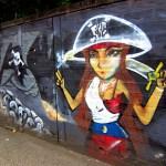 Pirate Girl Graffiti