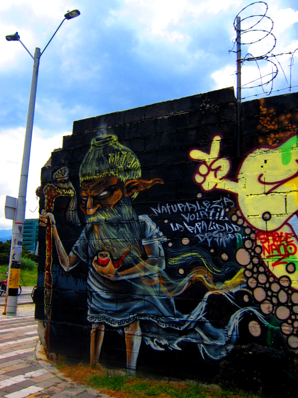Wizard Graffiti near the Medellin Museum of Modern Art