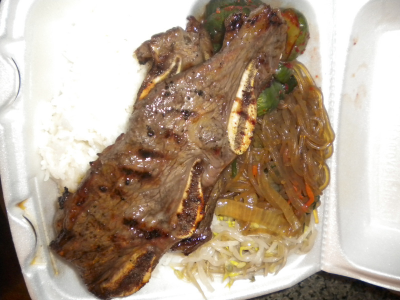 Delicious Korean galbi and sides from Me BBQ in Waikiki Beach