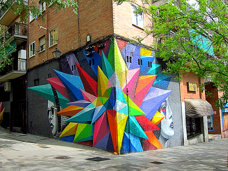 Colorful Corner, Madrid, Spain