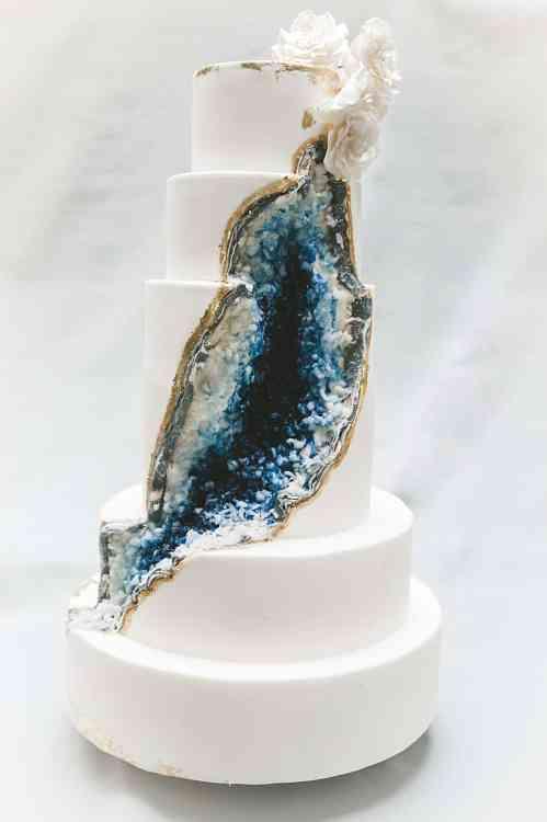 Medium Of Geode Wedding Cake