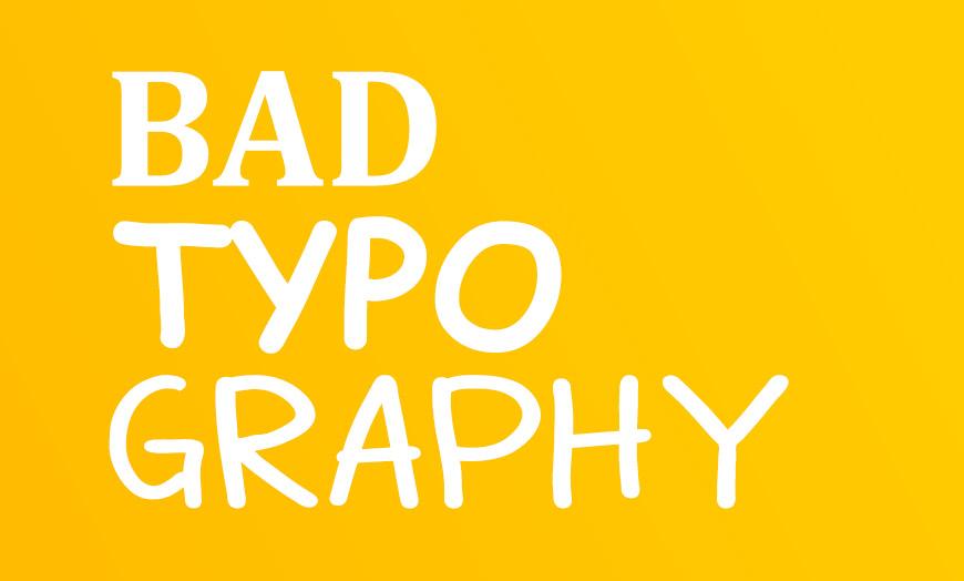 Tipografia é um fator importantíssimo para o design de sites