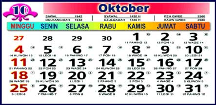 Kalender Oktober 2009