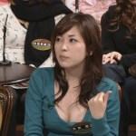 【胸ちらキャプ画像】やらしい谷間をテレビで披露しちゃうスケベタレント達w