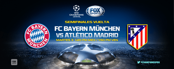 Bayern vs Atlético de Madrid en Vivo Hoy Fox Sports Champions League 2016