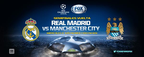 Real Madrid vs Man City en Vivo Hoy Champions League 2016