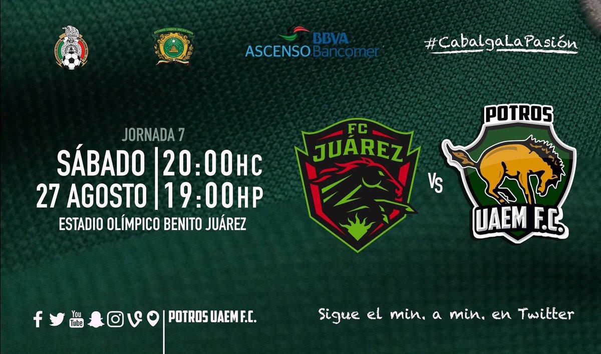 Juárez vs Potros UAEM en Vivo Ascenso MX 2016