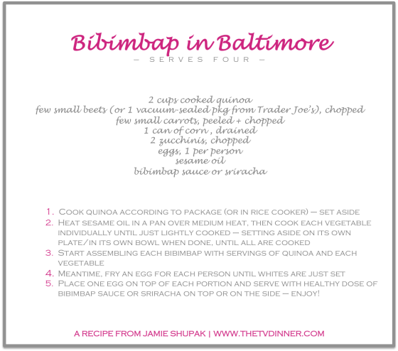 RECIPE bibimbap baltimore