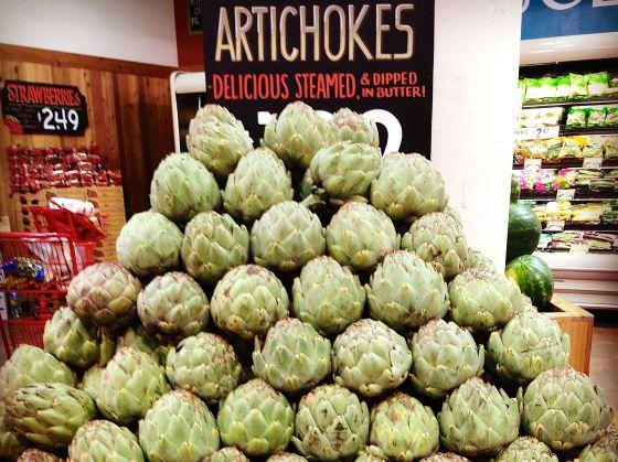 artichokes in store