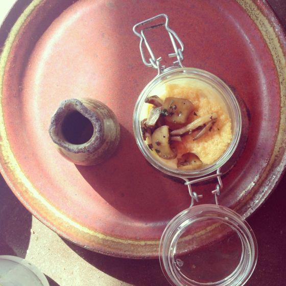 mushroom polenta, bottega