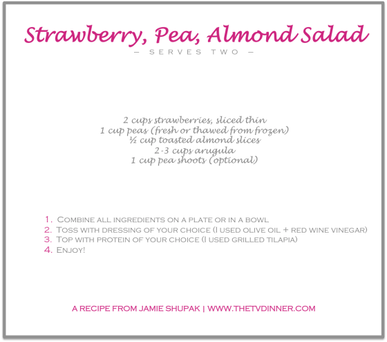 RECIPE strawberry pea salad
