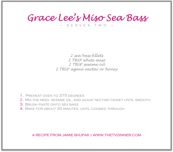 RECIPE miso sea bass