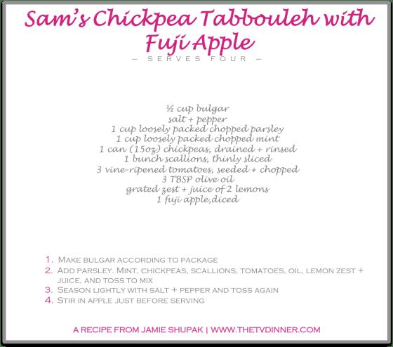RECIPE sam's chickpea tabbouleh