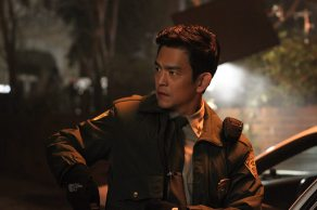 John Cho as Officer Andy Brooks in his police uniform in Sleepy Hollow.