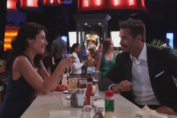 Abby visits Vegas and meets an escort played by Victor Webster on Girlfriends' Guide to Divorce.