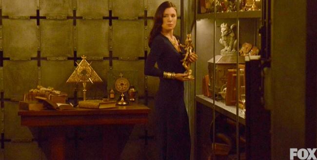 Jaime Murray plays Carmilla Pines, a vetala, on Sleepy Hollow.