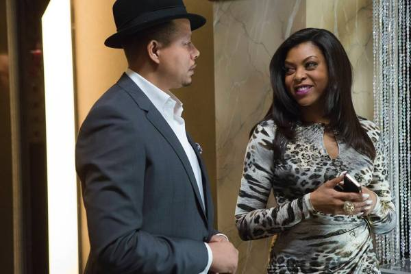 Empire's Cookie and Lucious smile at each other