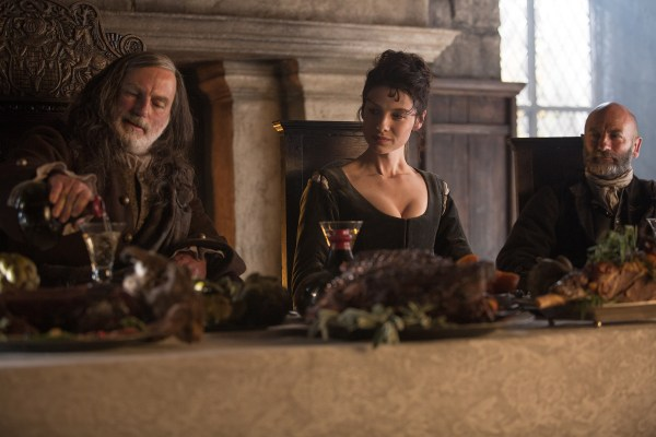 Colum, Claire and Dougal on Outlander