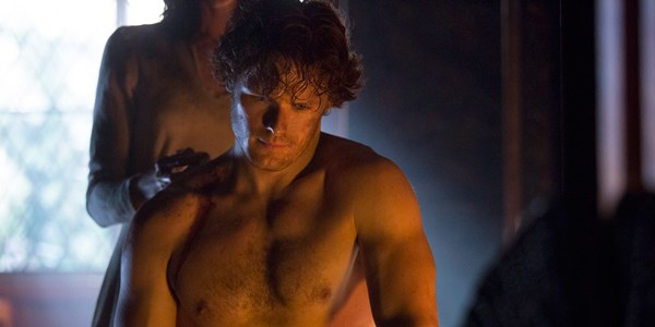 Shirtless Jamie Castle Leoch Outlander
