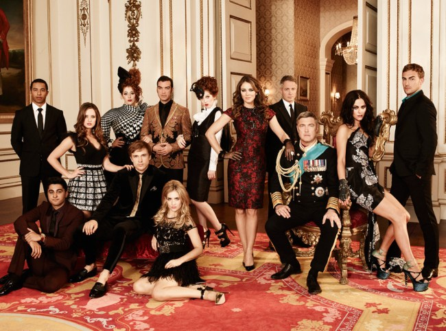 Group shot of the cast of The Royals