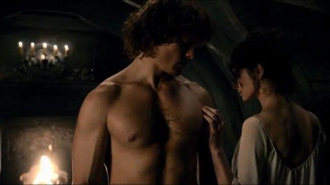 Claire and Jamie wedding night Outlander