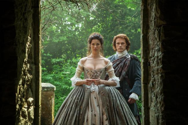 Jamie and Claire's wedding on Outlander