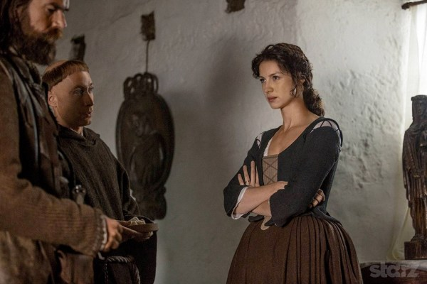 Claire, Murtagh and Brother Paul on Outlander