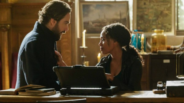 Abbie and Ichabod on Sleepy Hollow