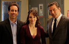 Jerry Seinfeld, Tina Fey and Alec Baldwin