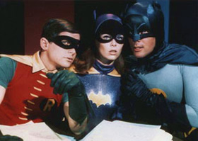 Batman, Robin and Batgirl