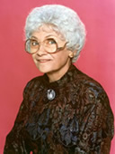 Estelle Getty as Sophia on The Golden Girls
