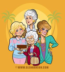 The Golden Girls - illustration by Glen Hanson