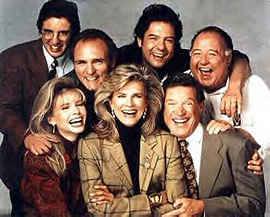 The cast of Murphy Brown