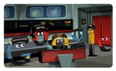 Star Trek tribute on Google