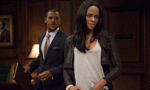 (L to R) David Harrington (Played by Peter Parros) and Candace Young (Played by Tika Sumpter) - Photo: OWN: Oprah Winfrey Network