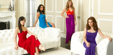 "MISTRESSES - ABC's ""Mistresses"" stars Yunjin Kim as Karen Kim, Rochelle Aytes as April Malloy, Jes Macallan as Josslyn Carver and Alyssa Milano as Savannah (""Savi"") Davis. (ABC/BOB D'AMICO)"